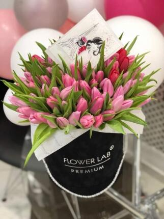 Коробка «Тюльпаны к празднику»