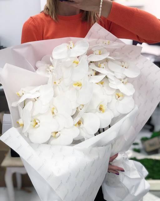 """Букет """"Орхидея"""", белая"""