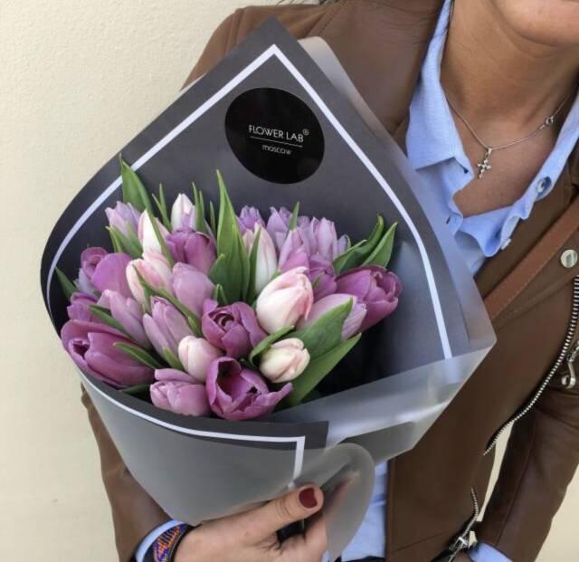 "Букет ""Тюльпаны"", микс, 25 шт"