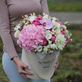 Цветы в коробке «Лето»